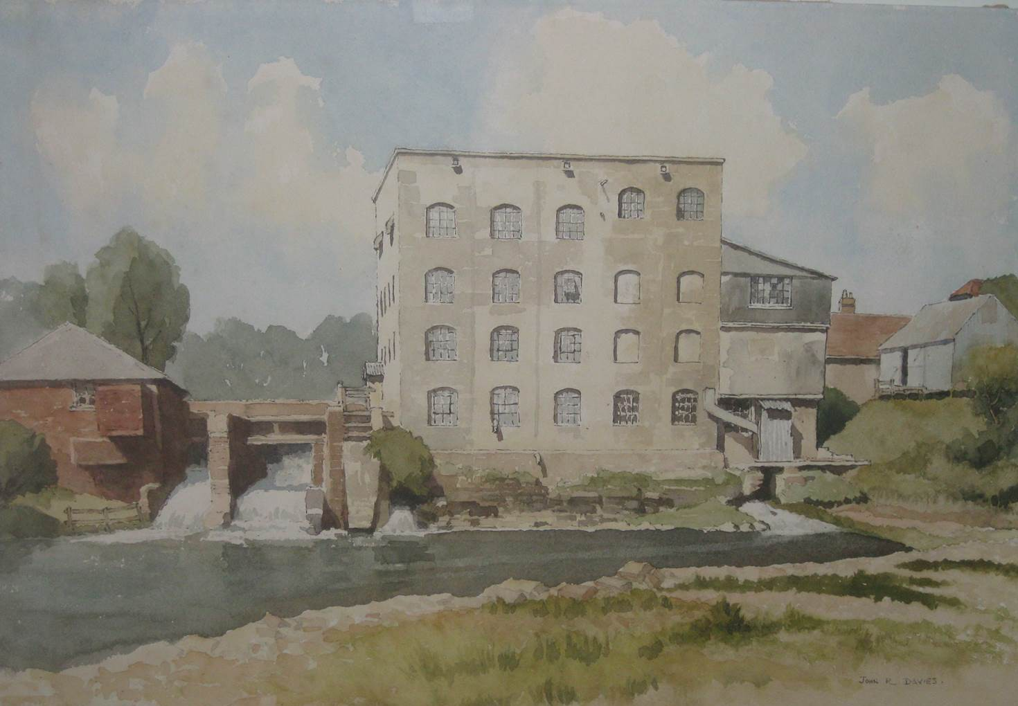 Painting of concrete mill
