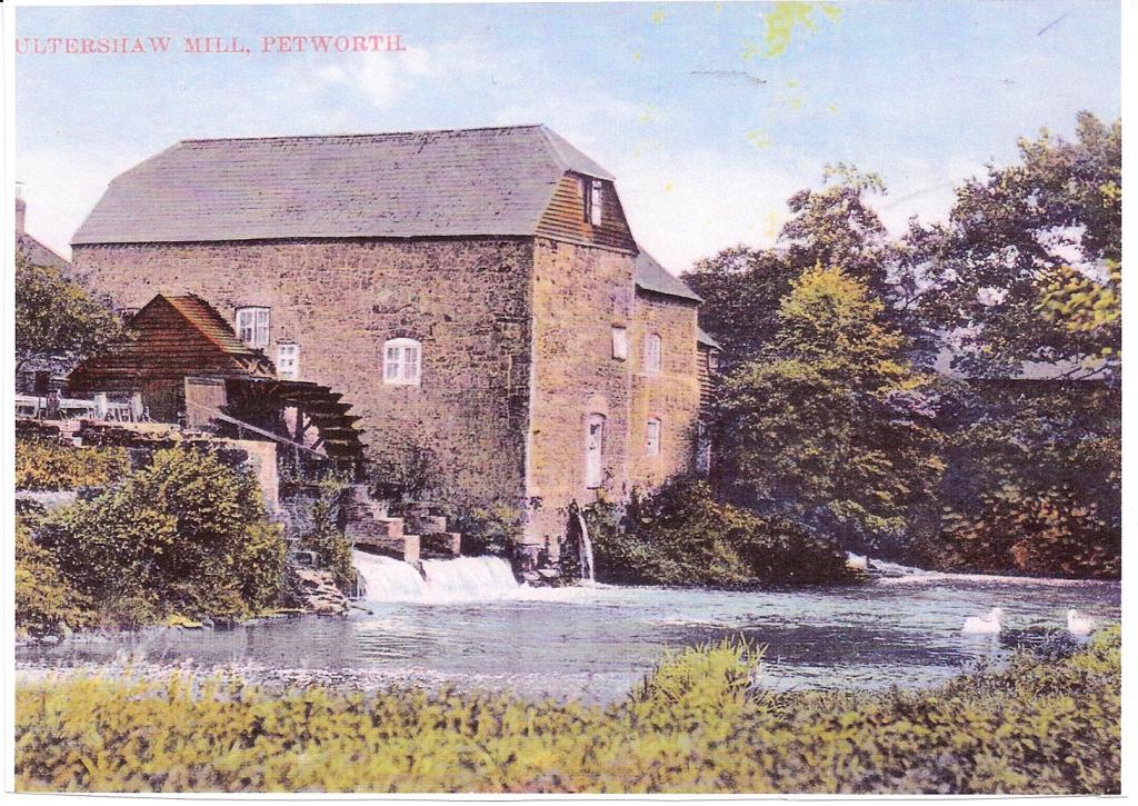 Postcard old mill